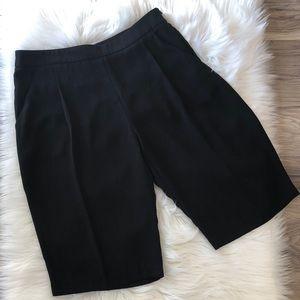 Zara Basics Black Knee Length Shorts Size S -  NWT